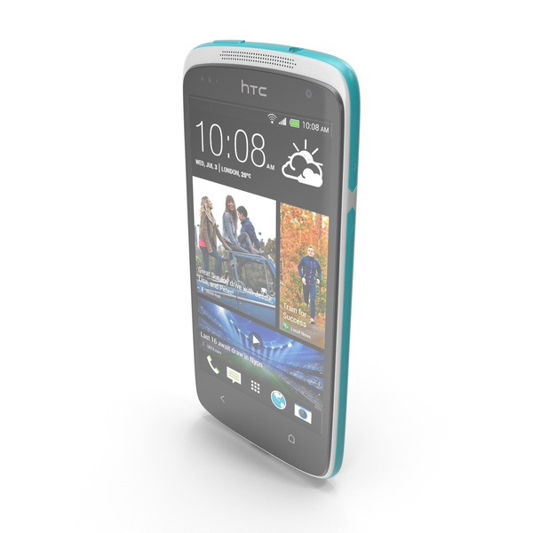 HTC Desire 500 Silver PNG & PSD Images
