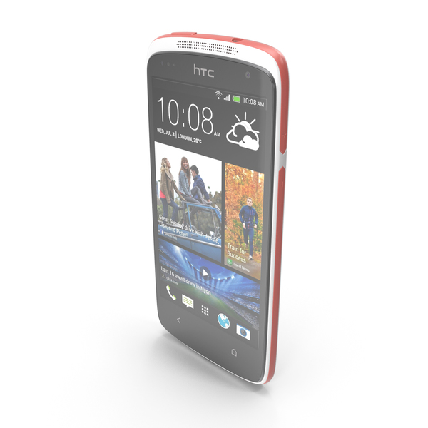 HTC Desire 500 White PNG & PSD Images