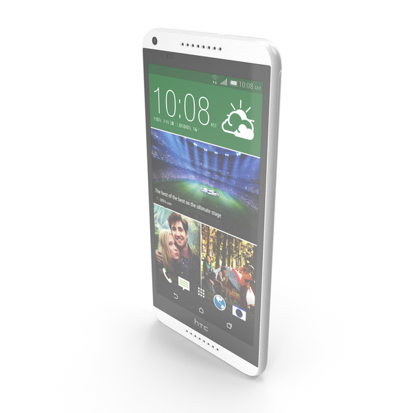 HTC Desire 816 White PNG & PSD Images