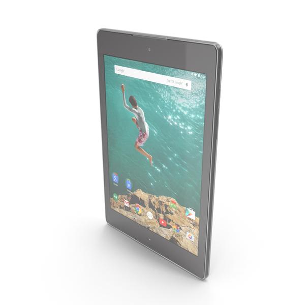 HTC Google Nexus 9 Lunar White PNG & PSD Images