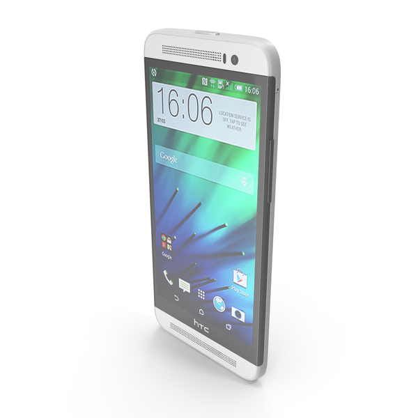 HTC One E8 White PNG & PSD Images