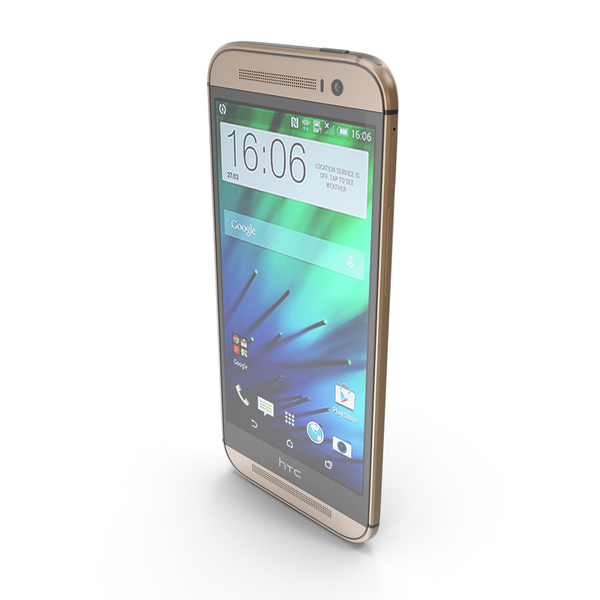HTC One (M8) Amber Gold PNG & PSD Images