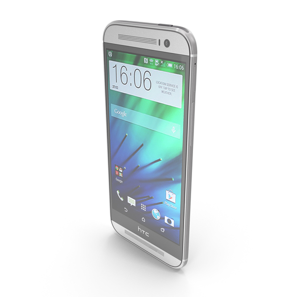 HTC One (M8) Glacial Silver PNG & PSD Images