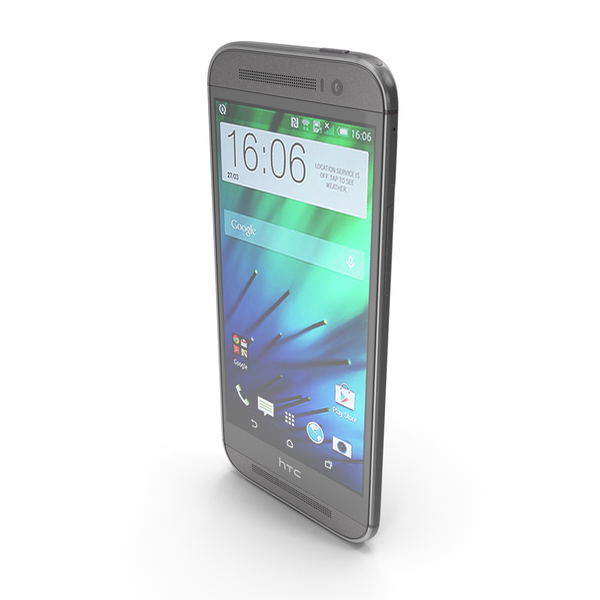 HTC One (M8) Gunmetal Gray PNG & PSD Images