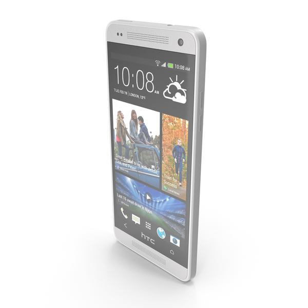 HTC One mini Glacial Silver PNG & PSD Images