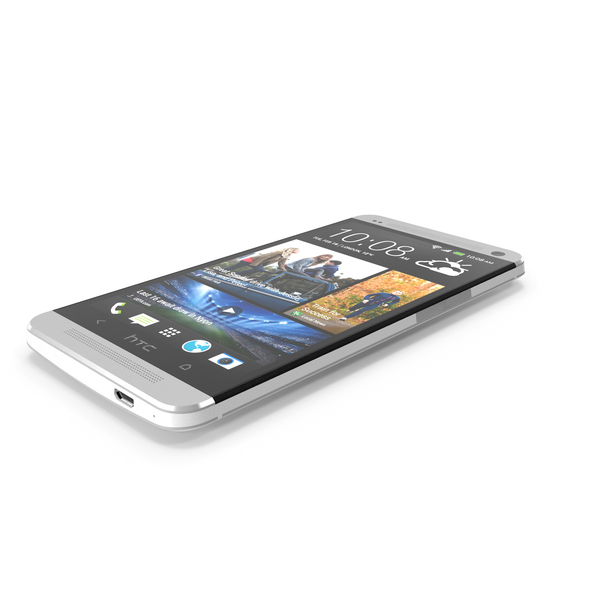 HTC One Silver and Black PNG & PSD Images