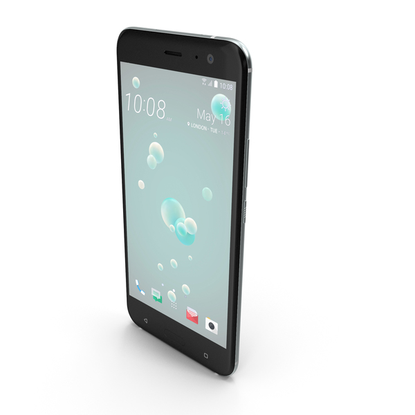 HTC U11 Ice White PNG & PSD Images