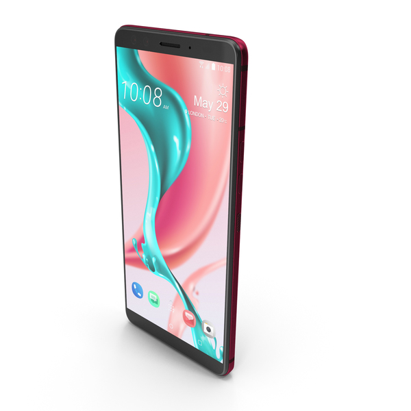 HTC U12 Plus Flame Red PNG & PSD Images