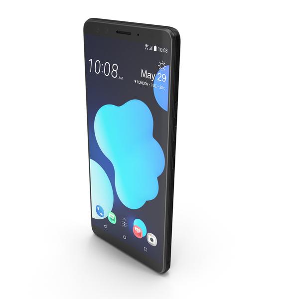 HTC U12 Plus Translucent Blue PNG & PSD Images