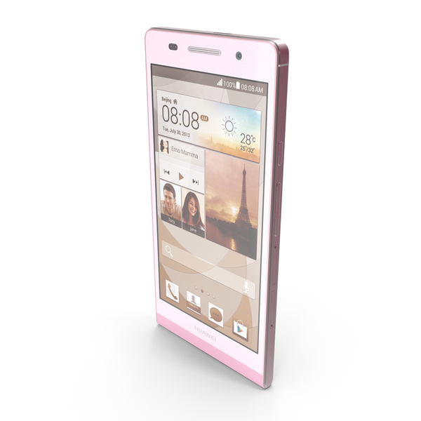 Smartphone: Huawei Ascend P6 Pink PNG & PSD Images