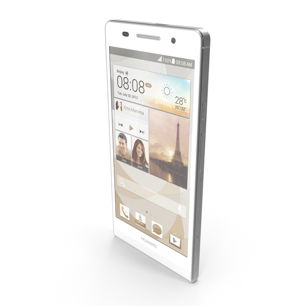 Huawei Ascend P6 S White PNG & PSD Images