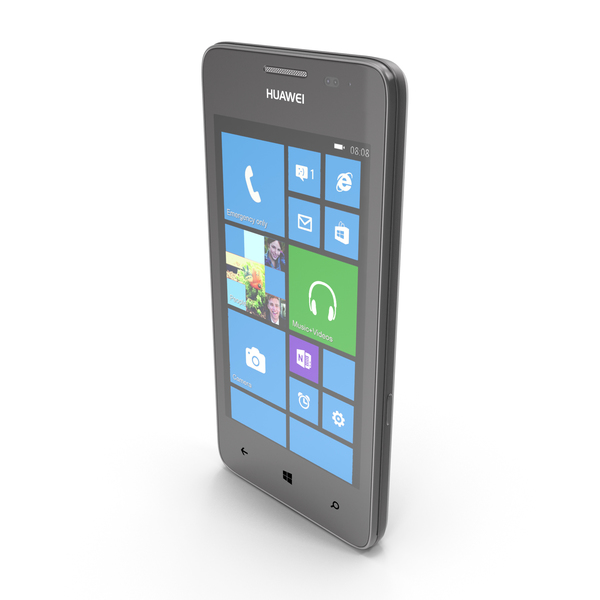 Smartphone: Huawei Ascend W2 Black PNG & PSD Images