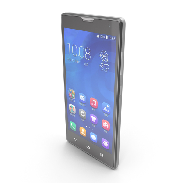 Huawei Honor 3C & 3C 4G White PNG & PSD Images