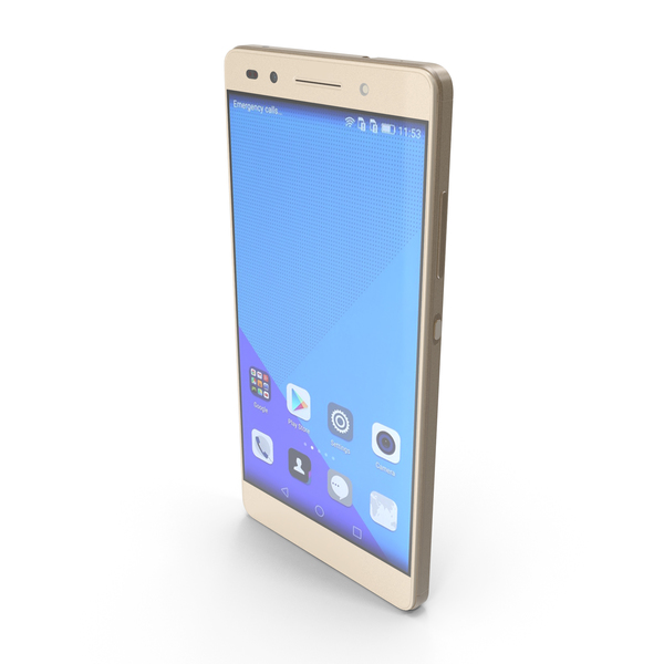 Huawei Honor 7 Gold PNG & PSD Images