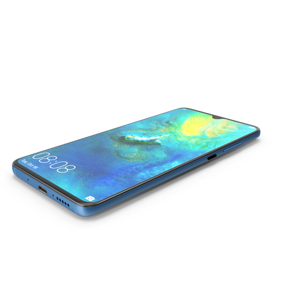 Huawei Mate 20 Blue PNG & PSD Images