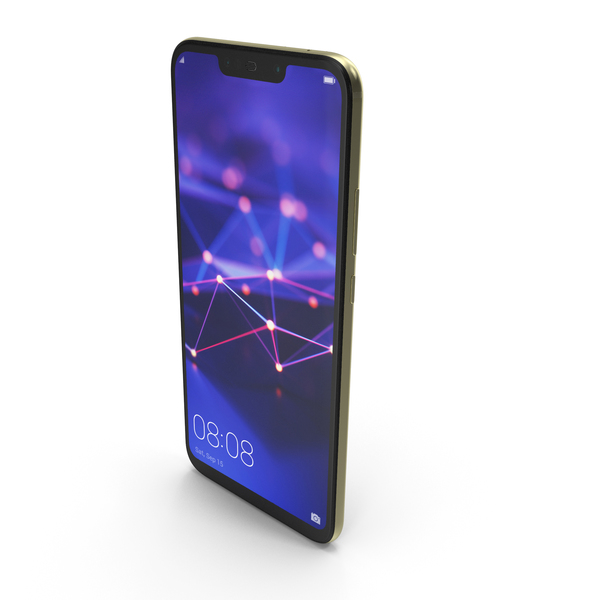 Huawei Mate 20 Lite Gold PNG & PSD Images