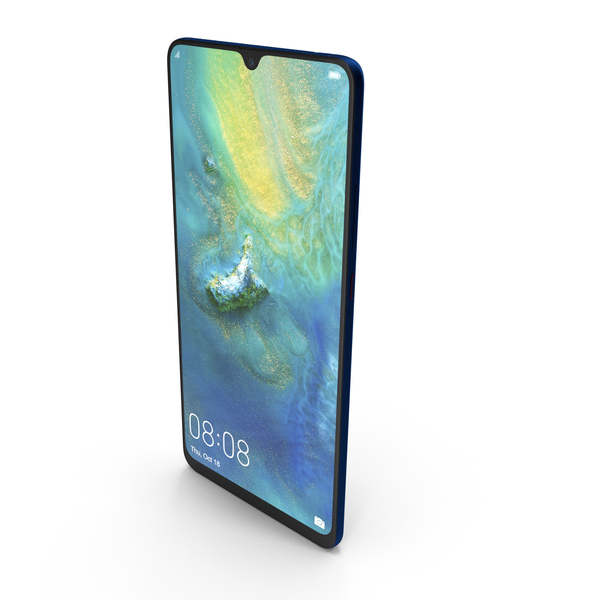 Huawei Mate 20 X Blue PNG & PSD Images