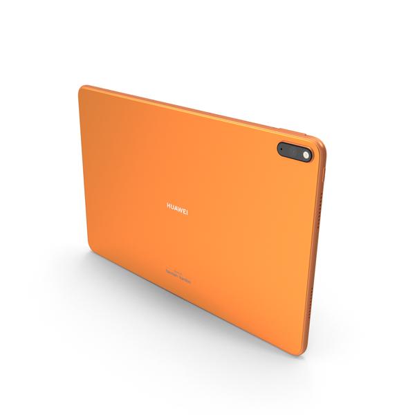 Huawei Matepad Pro (5G) Orange PNG & PSD Images