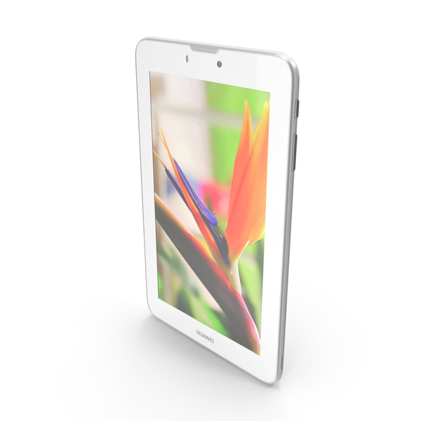 Tablet Computer: Huawei MediaPad 7 Vogue White PNG & PSD Images