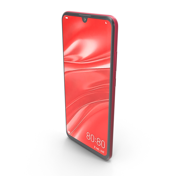 Huawei P Smart 2019 Coral Red PNG & PSD Images