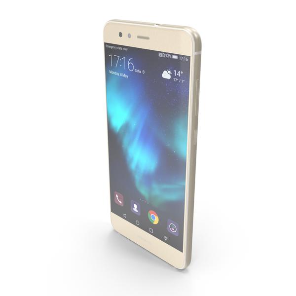 Huawei P10 Lite Platinum Gold PNG & PSD Images