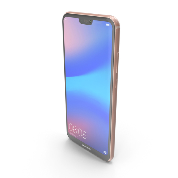 Smartphone: Huawei P20 Lite Sakura Pink PNG & PSD Images