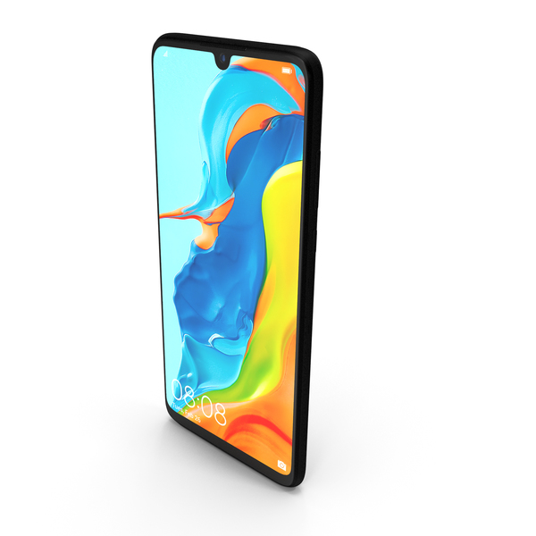 Huawei P30 Lite Midnight Black PNG & PSD Images