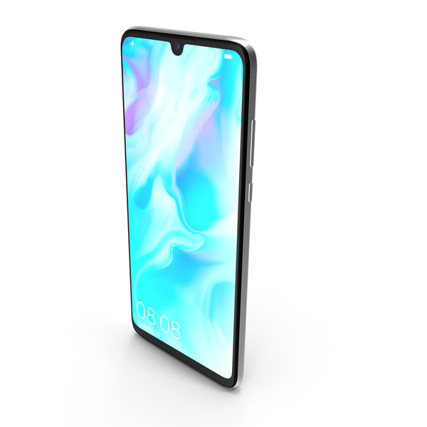 Smartphone: Huawei P30 Lite Pearl White PNG & PSD Images