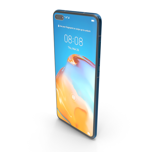 Smartphone: Huawei P40 Deep Sea Blue PNG & PSD Images