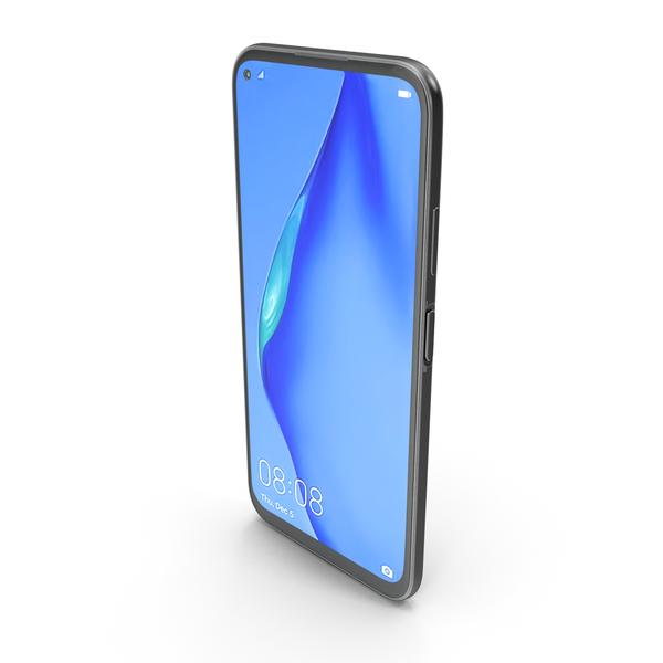 Huawei P40 Lite Black PNG & PSD Images
