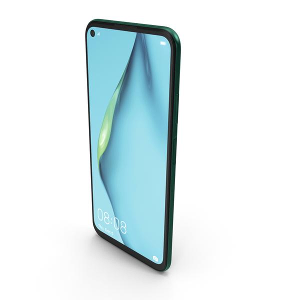 Huawei P40 Lite (Nova 7i) Crush Green PNG & PSD Images