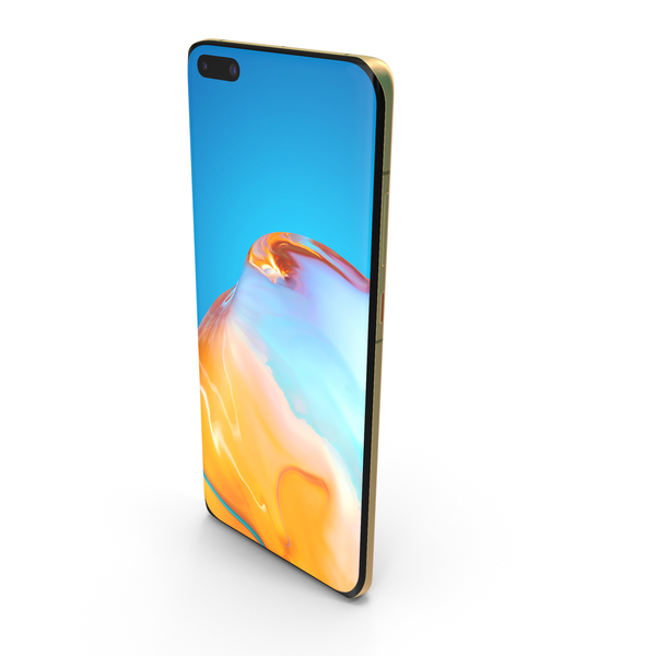 Huawei P40 Pro Gold PNG & PSD Images