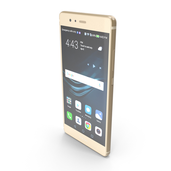 Smartphone: Huawei P9 Prestige Gold PNG & PSD Images