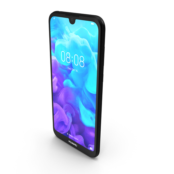 Huawei Y5 2019 Black PNG & PSD Images