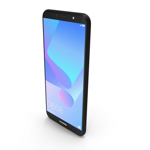 Huawei Y6 2018 Black PNG & PSD Images