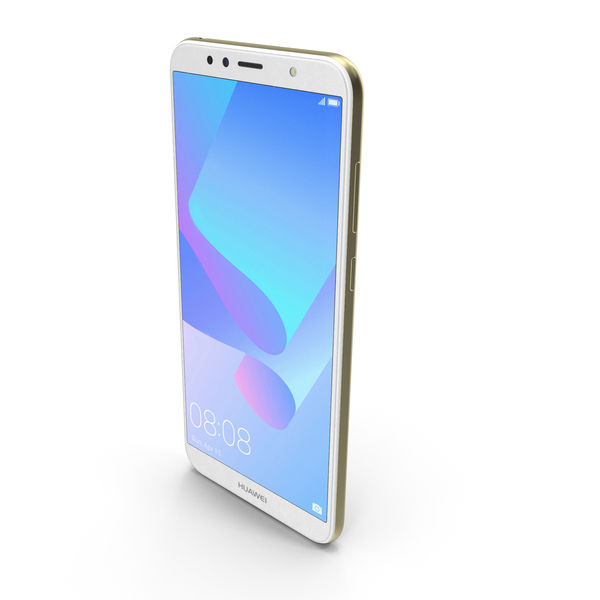 Huawei Y6 2018 Gold PNG & PSD Images