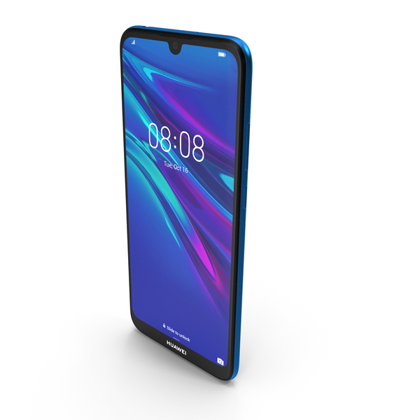 Huawei Y6 2019 Sapphire Blue PNG & PSD Images