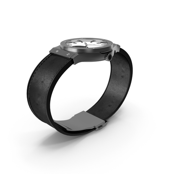 Men's Wrist Watch: Hublot Classic Fusion Tourbillon Titanium Opalin PNG & PSD Images