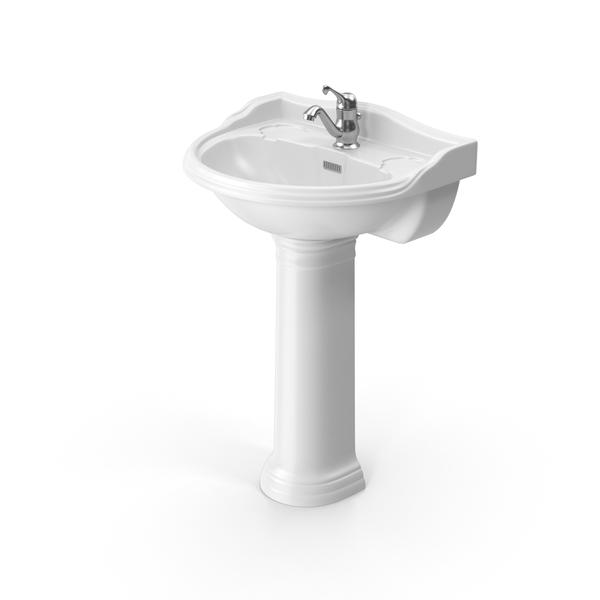Sink: Hudson Reed Pedestal Washbasin PNG & PSD Images