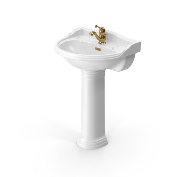 Hudson Reed Pedestal Washbasin PNG & PSD Images