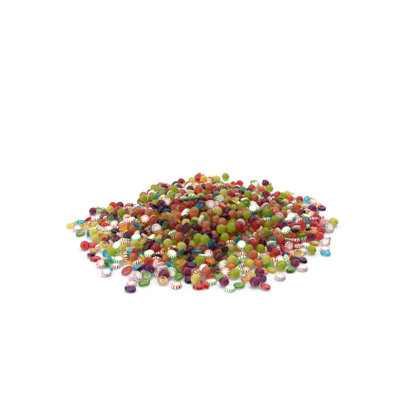 Huge Pile of Mixed Hard Candy PNG & PSD Images