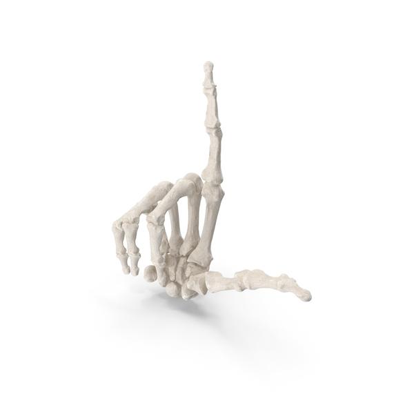 Human Hand Bones White Loser Sign PNG & PSD Images