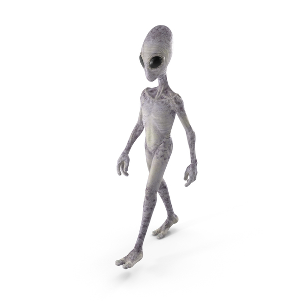 Humanoid Alien Walking Pose PNG & PSD Images