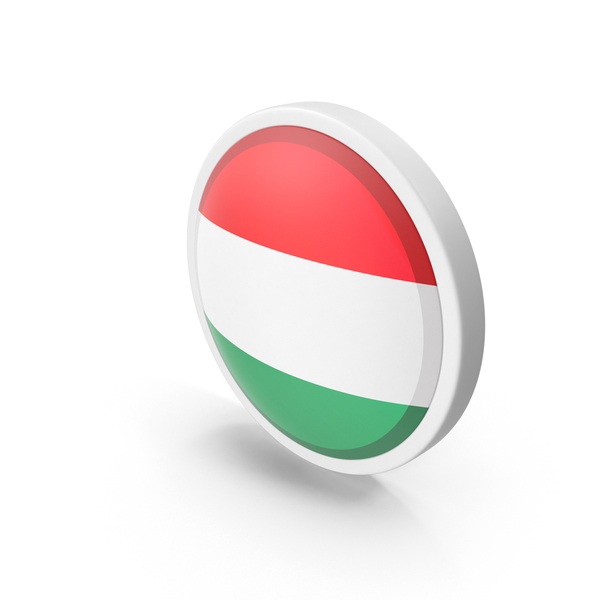 Hungary Flag Button PNG & PSD Images