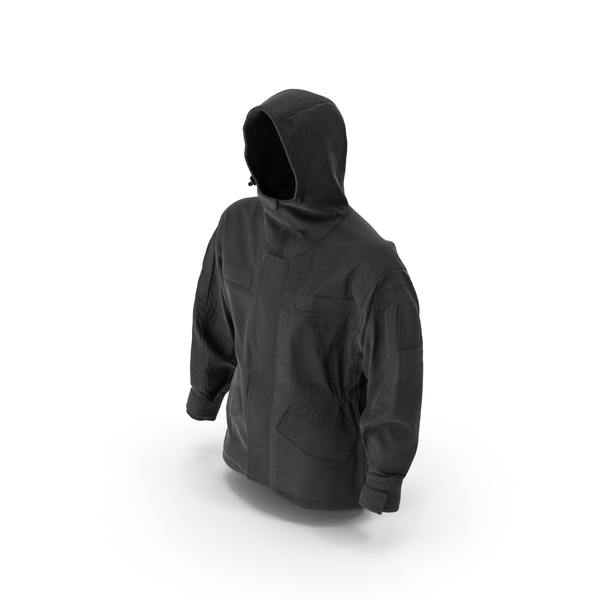 Hunting Jacket Black PNG & PSD Images