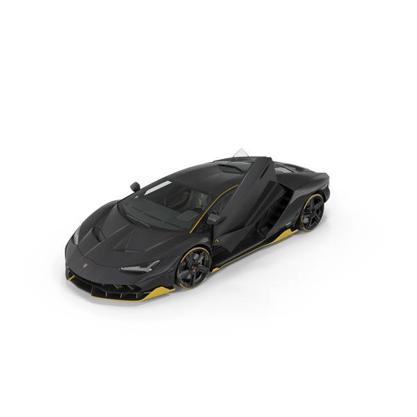 Sports Car: Hypercar Lamborghini Centenario 2017 PNG & PSD Images
