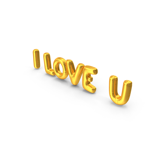 I Love U Balloons PNG & PSD Images