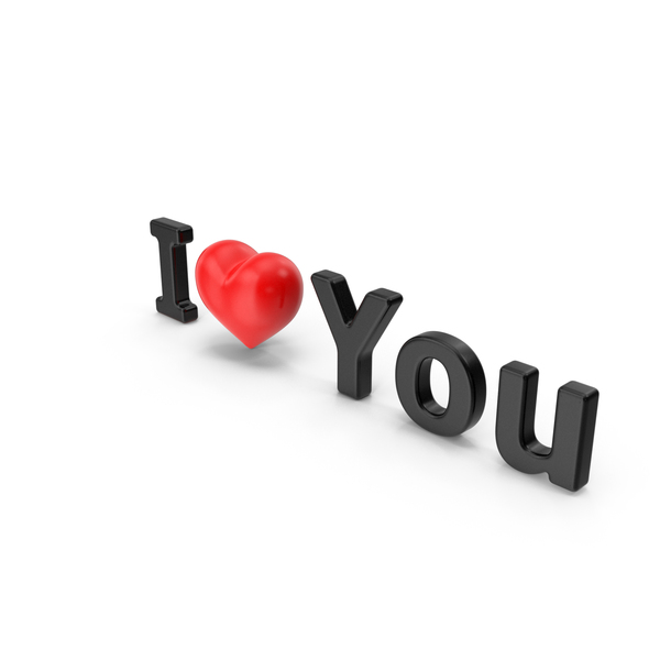 Language: I Love You Text PNG & PSD Images