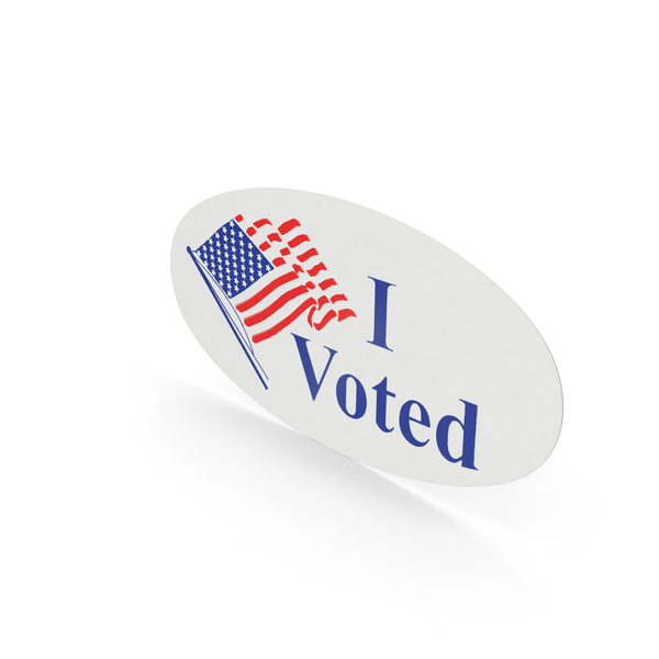 Badge: I Voted Sticker PNG & PSD Images