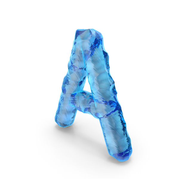 Ice Alphabet Letter A PNG & PSD Images
